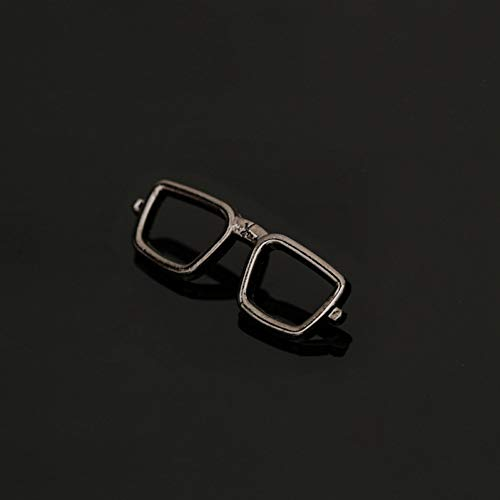 JTXZD Brosche Mode Emaille Pin Sonnenbrille Männer Anzug Brosche für Mann Broschen Legierung Sonnenbrille Brille Brosche