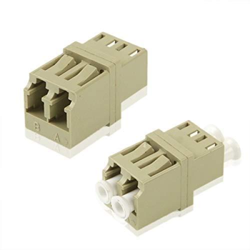 Allshopstock (#26) Lc-Lc Multimode Duplex Fiber Flange/ Steckverbinder/ Adapter/ Lotus Root Gerät (Grey) -