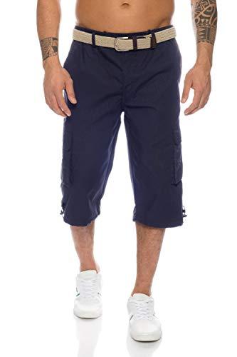 Herren Cargo Shorts mit Dehnbund - mehrere Farben ID505, Größe:XL;Farbe:Dunkelblau Cargo-capri-hosen