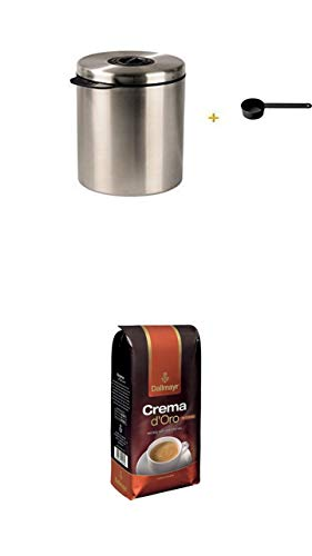 Xavax Kaffeedose mit Kaffeelöffel + + Dallmayr Kaffeebohnen Crema d'oro intensa 1 kg
