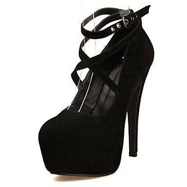 Moda Donna Sandali Sexy donna tacchi tacchi Estate Felpa casual Stiletto Heel altri nero / blu / rosso altri Black