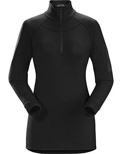 Arc'teryx Damen Satoro AR Zip Neck Ls Women's Sweatshirt, schwarz, M Arcteryx Womens Pullover