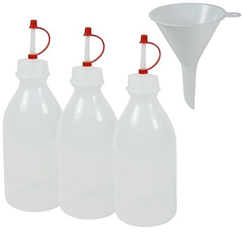 Viva-Haushaltswaren 3 Spritzflaschen BPA frei made in Germany - inkl. Einfülltrichter a 250ml