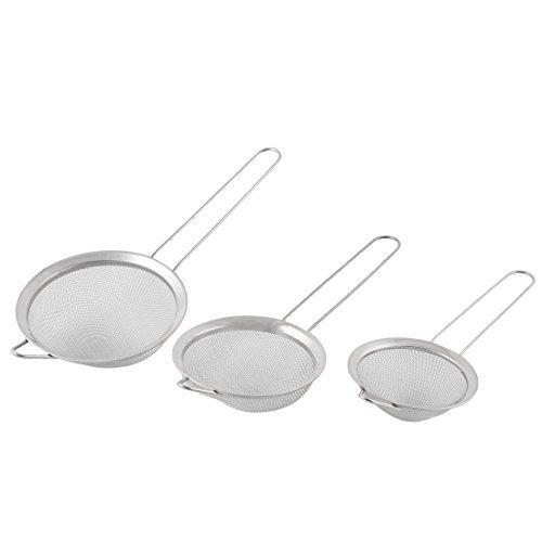 Filo DealMux metallica a maglia fine Cucina Scolapasta Setaccio Setaccio farina olio Filtro 3 in 1