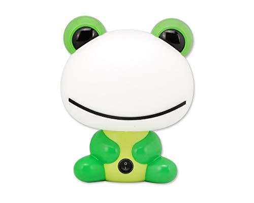 DSstyles Nachtlicht Nette Cartoon Tischlampe Schreibtischlampe für Baby Kinder Kinder Warmes Weißes Licht - Grüner Frosch