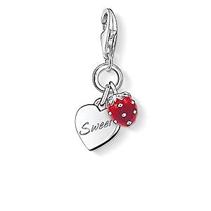 THOMAS SABO Damen Charm-Anhänger Sweet Charm Sweet 925er Sterlingsilber, Rot Emailliert 0818-007-10