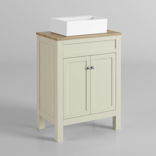 Fantastic Art Deco 46 Inch White Sink Chest Bathroom Vanity