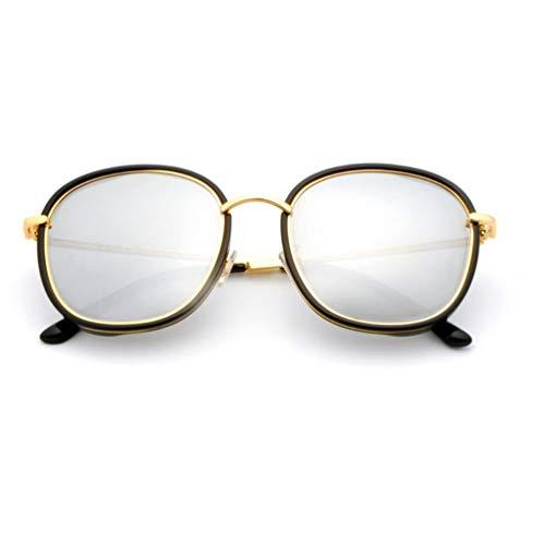 WYJW Damen Sonnenbrille Vollformat Sonnenbrille Polarisierte Sonnenbrille Damen UV Sonnenbrille (Schwarzpulver Silber)