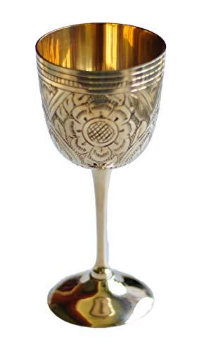 Mkuha Trinkkelch Weinkelch Weinglas aus Reines Kupfer,17cm Höhe, Size 1 Red Margarita Glas