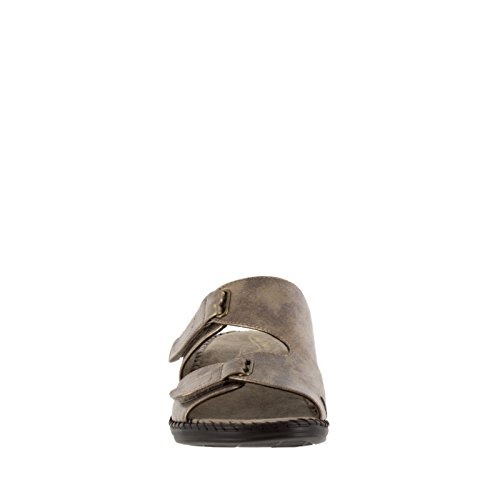 Easy Street Joelle Large Synthétique Sandale Bronze