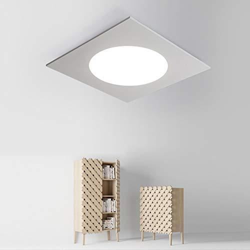 LED Deckenleuchten Stufenlos Dimmbar Schwarz Weiß Acryl, Dimmingwhite, 60x60cm