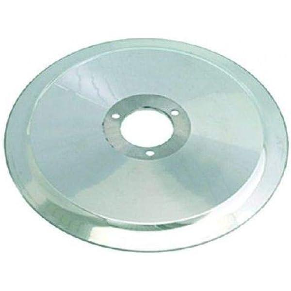 Lama diam 250 mm diam foro 40 mm 3 fori ricambio per affettatrici DAMPA