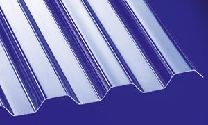 Polycarbonat Wellplatten Profilplatten Trapez 76/18 klar ohne Struktur 3000 x 1040 mm