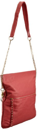 Sienna Ray & Co  Mak Multi Messenger, Sac à main femme - Gris-TR-B3-116, M Rouge à lèvres