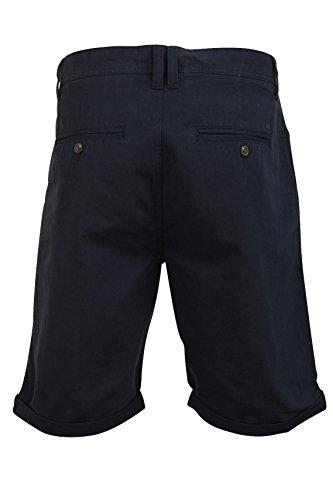 Herren Chino Shorts von Tokyo Laundry `Orlando` Enyzm gewaschen Mitternachtsblau