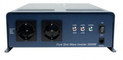 HQ PURE2KW-12 Sinus-Wechselrichter (12 V, 2000 Watt) -