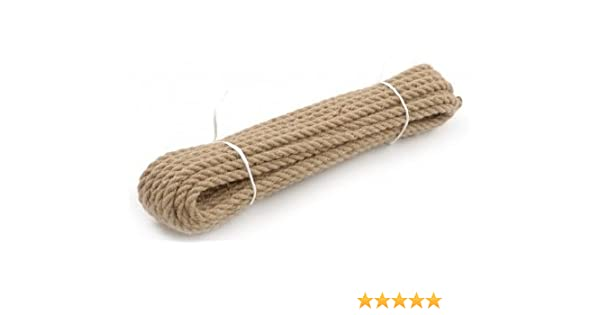 Twisted Braided Decking Garden /& Boating Hessian Cord 10mm Natural Jute Rope
