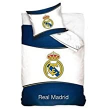 JUEGO FUNDA NÓRDICA REAL MADRID reversible 160X200CM ( para cama de 90x190-200cm) Y FUNFA COJÍN 70X80CM PARA CAMA 90x190/200, NUEVO!!