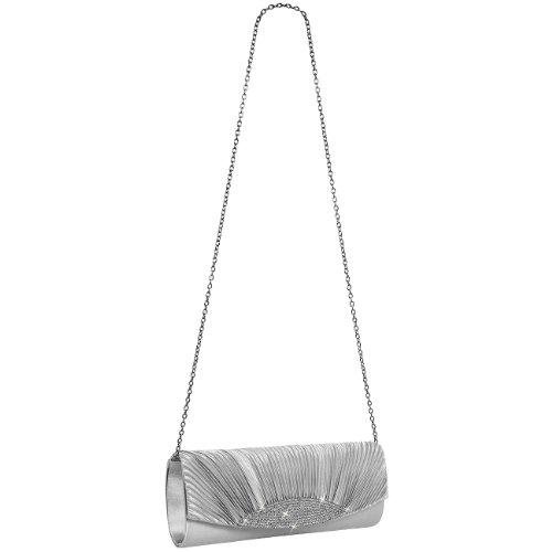 CASPAR Taschen & Accessoires, Poschette giorno donna Silver