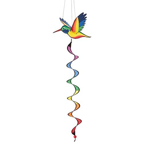 HQ Windspiration 109454 - Hummingbird 3D Twist, UV-beständiges und wetterfestes Windspiel - Länge: 120 cm, Breite: 30 cm, Tiefe: 30 cm, inkl. Aufhängung -