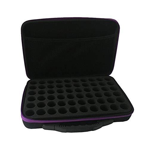 SUPVOX Ätherische Öle Tasche Tragetasche Aufbewahrung Case mit Griff Hält 60 Flasche 15 ml Wasserdicht Stoßfest Aromatherapie Aufbewahrungsbox für Damen Aromatherapie Reise (Zufällige Farbe)