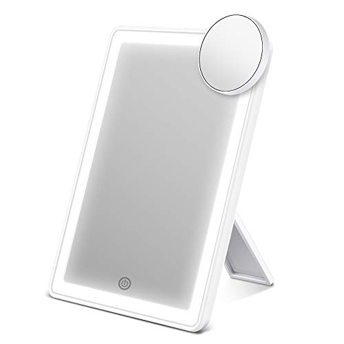 ESR7GEARS Espejo Maquillaje con Luz 72 Leds, Desmontable Aumento 10X, Espejo cosmético con Ajustable...