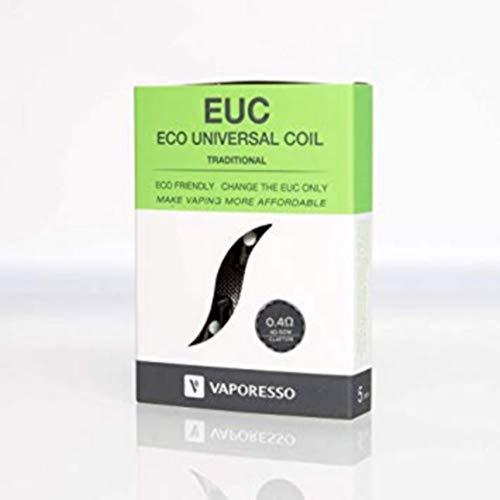 [5 + 1 GRATUITE] Pack de 6 résistances VAPORESSO Traditional EUC 0.4 ohm compatible avec Vaporesso Veco Tank - (VAPT04) - sans tabac sans nicotine