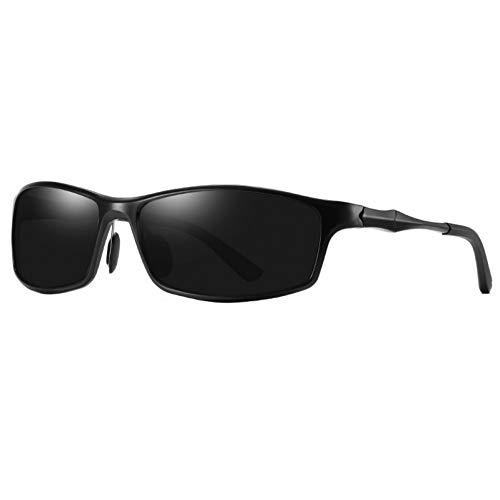 YLNJYJ Sonnenbrillen Rechteck Sonnenbrille Männer Polarisierte Aluminium Magnesium Metall Sonnenbrille Mode Fahrer Spiegel Uv400 Hohe Qualität
