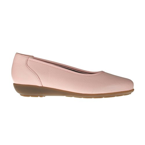 tessamino Damen Ballerina aus Hirschleder, elegant, Weite H, für Einlagen Rosa