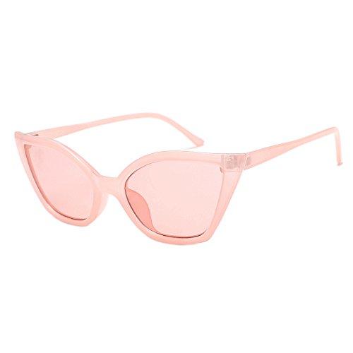 Hniunew Männer Frauen Katzenaugen Farbe Farbige Linse Tropischer Strandspiegel Sonnenbrillen Schutzbrille Reisespiegel Shades Acetat Rahmen UV Brille Balken Vintage Unregelmäßige Gläser