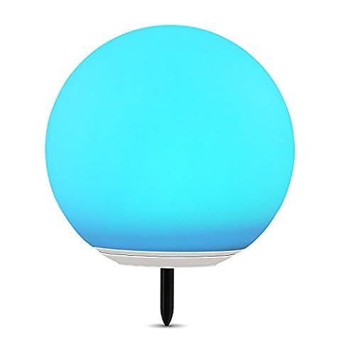 Albrillo Lampe boule solaire à LED RVB avec changement de