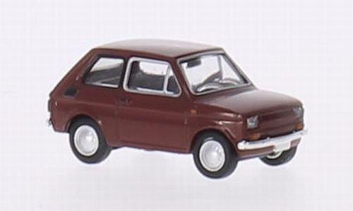 Fiat 126, rot, Modellauto, Fertigmodell, Brekina Drummer 1:87