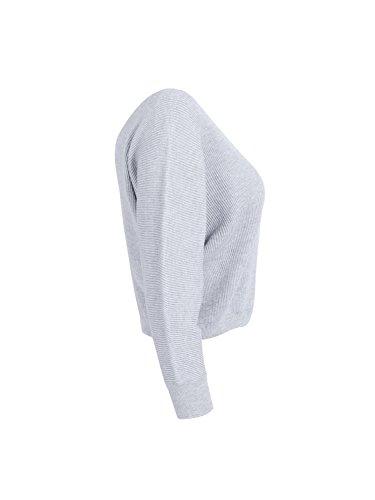 les femmes simplee bonneterie vêtements pull à col v. un pull haut haut culture Gris