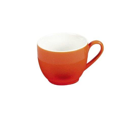 Flirt by R&B 516166 \'Doppio\' Espresso-Obere/Espressotasse 80 ml, Ø 6 x 5 cm, orange (1 Stück)