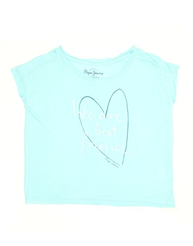 Pepe Jeans Girls' Plain Regular Fit T-Shirt (PIG0001017_Aqua_14)  available at amazon for Rs.449