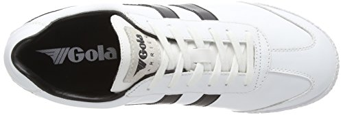 Gola Harrier Leather Herren Multisport Outdoor Weiß (White/Black)