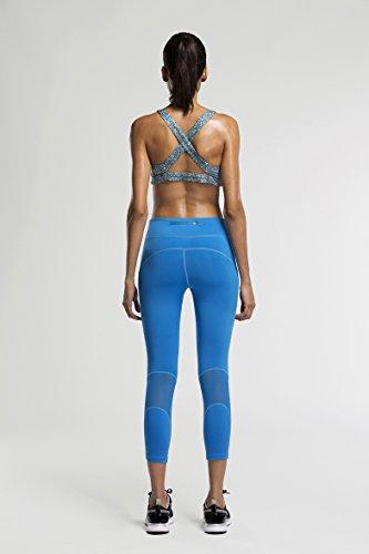Fringoo - Legging de sport - Femme Blue - Capri