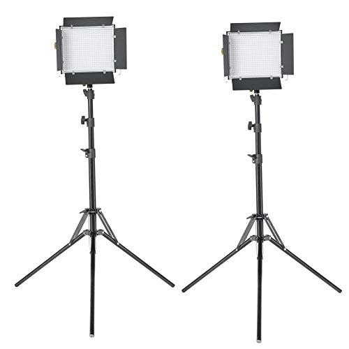 Np-led (VBESTLIFE 660 LED Videoleuchtenstativ-Kit 3200-5600K CRI 95+ W,Aluminiummaterial + Vielseitigkeit,AC/DC-Netzteil für Sony NP-F550 / F570 / F960 / F970.(EU))