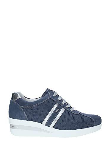 Nero giardini p907500d/203 sneakers scarpe donna sportive lacci stringhe avio (35 eu)