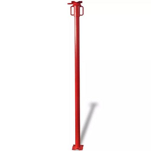 Tidyard Puntal Extensible Puntal para Marcos de Puertas 280 cm Rojo