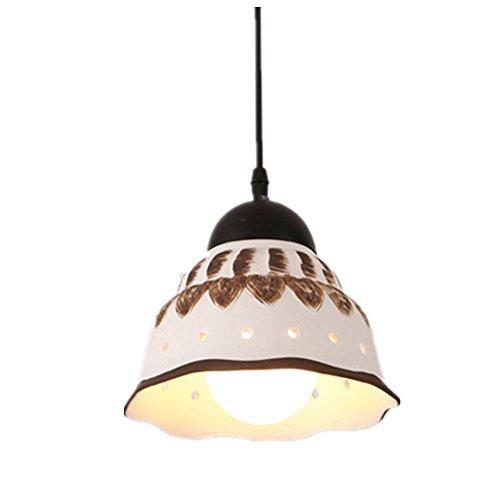 Retro Pendelleuchte Hängelampe Deckenleuchte Vintage Kreative Keramik Dekorative Beleuchtung für Wohnzimmer Loft Essbereich Cafe Küche Bar E27(ohne Birne)