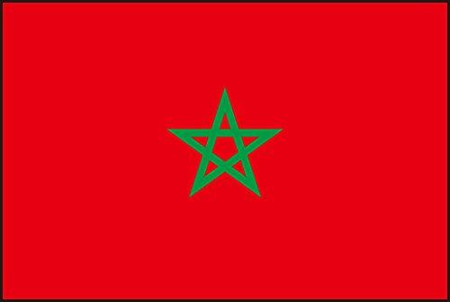 Durabol Drapeau de Maroc 150 x 90 cm Satin Double Piqué