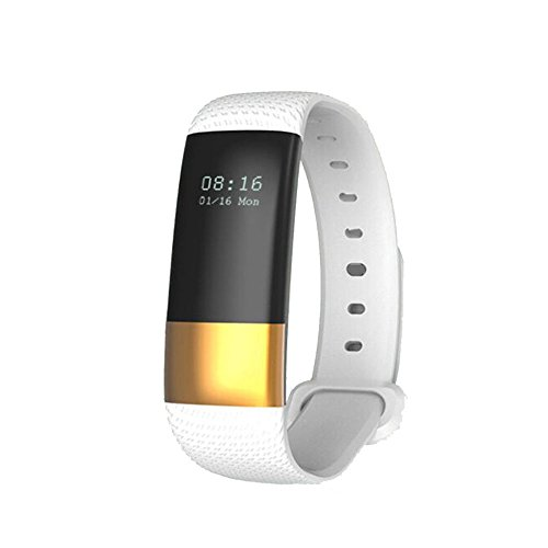 Haihuic Smartwatch Herzfrequenz/Blutdruck / Schlaf-Monitor, Schritt Kalorien Zähler Schrittzähler Wasserdichter Fitness Tracker für iPhone Android |Weiß - Kalorien Zähler-monitor