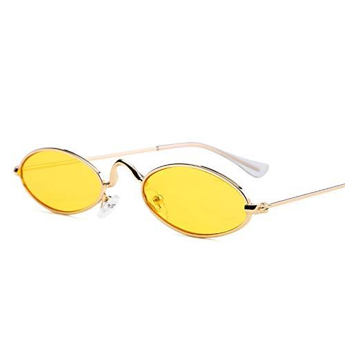 GJYANJING Sonnenbrille Kleine Sonnenbrille Männer Metall Brillengestell 7 Farben Farbe Objektiv Trend Neu Sun Glass Master Design Luxus