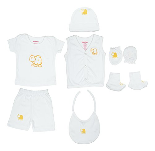KinderCare Unisex New born Cotton Clothing Gift Box (White, 0 - 6 months)