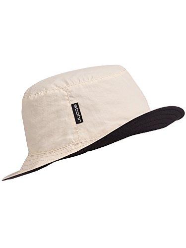 Stöhr Erwachsene Reversible Hat Hut, Sand/Schwarz, L/XL - Reversible Hut