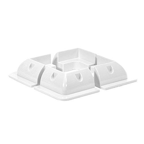 Offgridtec ABS Set de profil d'angle Light Duty Blanc 150 x 150 mm, 1 pièce, 006530