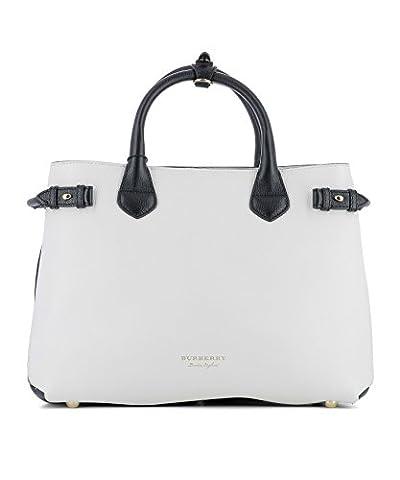 Burberry Femme 4055163 Blanc Cuir Sac À Main