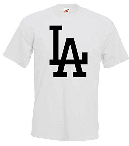 TRVPPY Herren T-Shirt Modell LA Los Angeles, Weiß, L