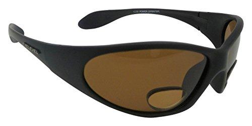 2b3c33e89422d1 Eyelevel Powersprinter Lunettes de soleil polarisées Marron UV400 Lentilles  avec empiècements à double foyer + 2.50